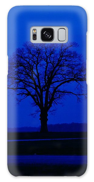 Blue Tree Galaxy Case by William Bartholomew