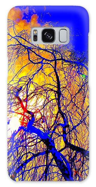 Blue Trees Galaxy Case by Jodie Marie Anne Richardson Traugott          aka jm-ART