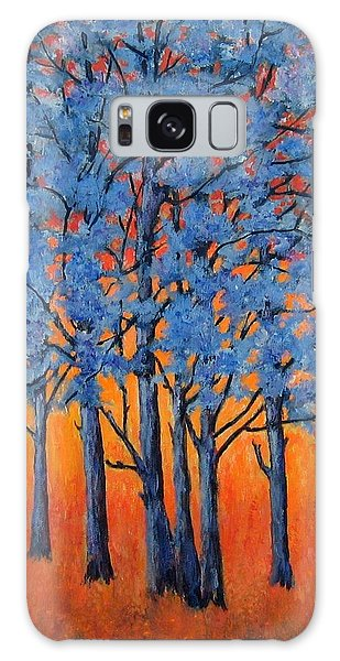 Blue Trees On A Hot Day Galaxy Case