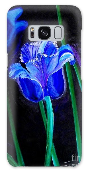 Blue Tulip Variation Galaxy Case