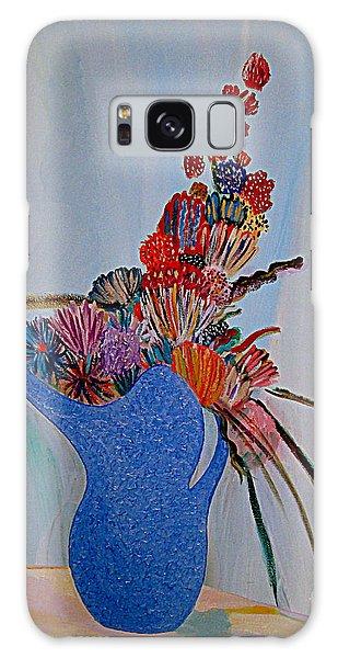 Blue Vase 22 Galaxy Case