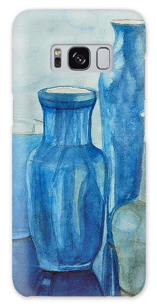 Blue Vases I Galaxy Case