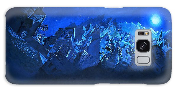 Blue Village Galaxy Case by Joseph Hawkins