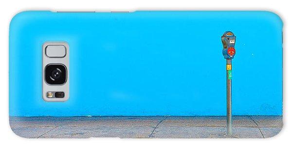 Blue Wall Parking Galaxy Case by Darryl Dalton
