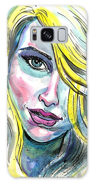 Blue Water Blonde Galaxy Case