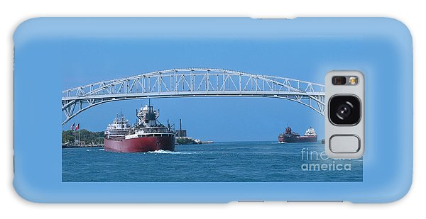 Blue Water Bridge And Freighters Galaxy Case