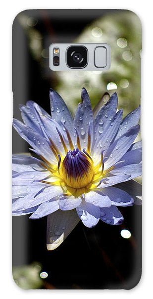 Waterlily After The Rain ... Galaxy Case by Lehua Pekelo-Stearns