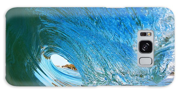Blue Wave Curl Galaxy Case