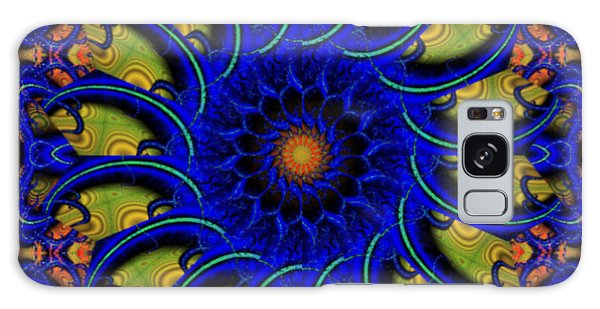 Blue Whirligig Galaxy Case