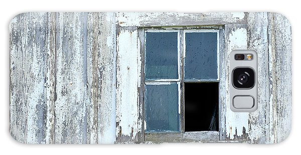 Blue Window In Weathered Wall Galaxy Case