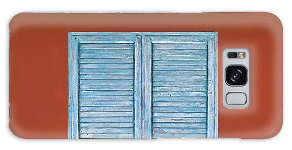 Blue Window Shutter Of Aruba Galaxy Case