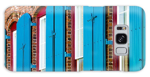 Galaxy Case featuring the photograph Blue Windows by Carolyn Marshall