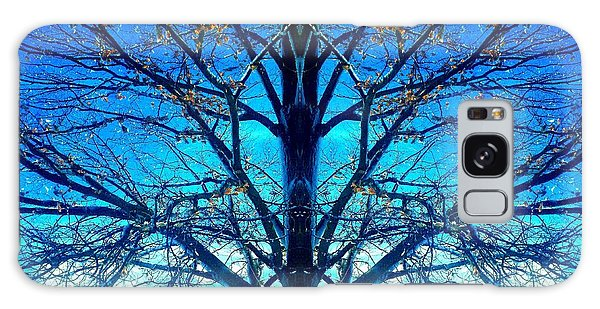 Blue Winter Tree Galaxy Case