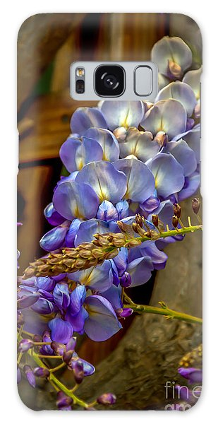 Blue Wisteria Galaxy Case