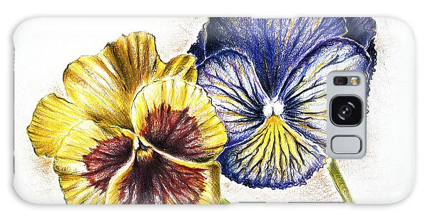Blue Yellow Pansies Galaxy Case