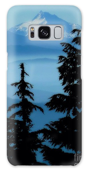 Blue Yonder Mountain Galaxy Case by Susan Garren