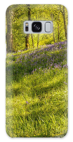 Bluebell Galaxy Case - Bluebell Flowers by Amanda Elwell