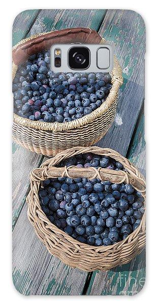 Picnic Table Galaxy Case - Blueberry Baskets by Edward Fielding