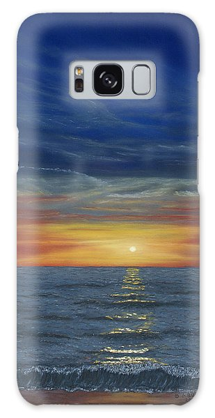 Blueberry Beach Sunset Galaxy Case