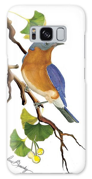 Bluebird In Ginkgo Tree Galaxy Case