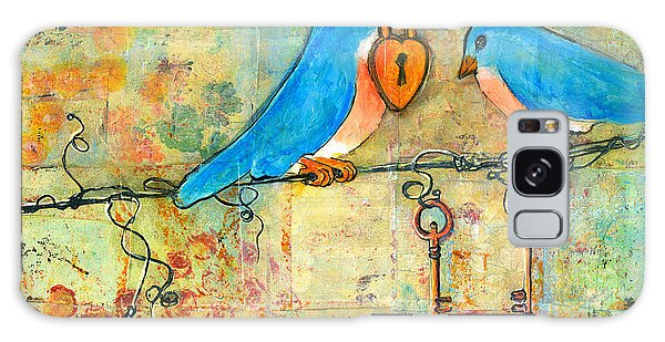 Bluebird Galaxy Case - Bluebird Painting - Art Key To My Heart by Blenda Studio