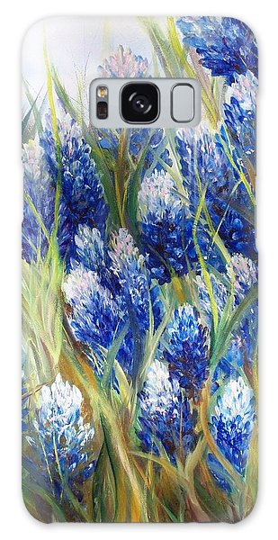 Bluebonnet Barrage  Galaxy Case