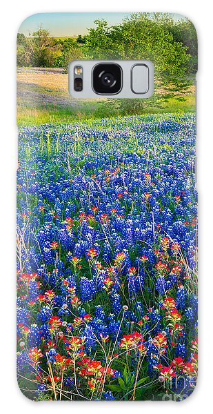 Expanse Galaxy Case - Bluebonnet Carpet by Inge Johnsson