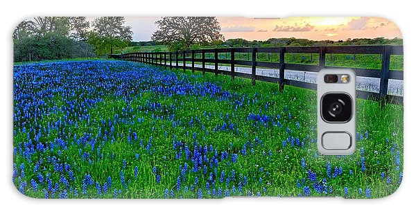 Bluebonnet Fields Forever Brenham Texas Galaxy Case