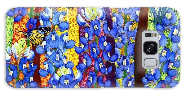 Beautiful Galaxy Case - Bluebonnet Garden by Hailey E Herrera