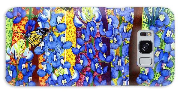 Bloom Galaxy Case - Bluebonnet Garden by Hailey E Herrera