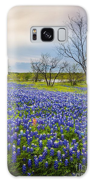 Expanse Galaxy Case - Bluebonnet Mood by Inge Johnsson