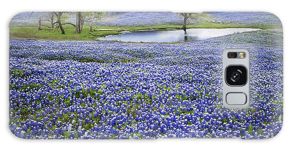 Bluebonnet Pond Galaxy Case by David and Carol Kelly