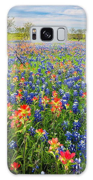 Expanse Galaxy Case - Bluebonnets And Prarie Fire by Inge Johnsson