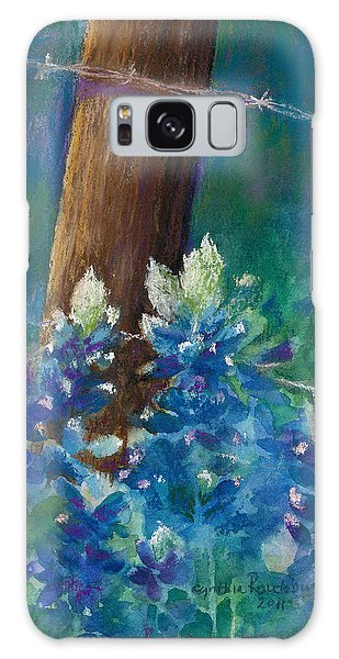 Bluebonnets At The Fencepost Galaxy Case