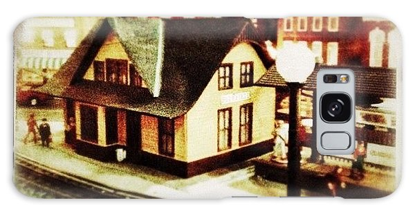 Transportation Galaxy Case - Bluefield Train Station In Miniature At by Teresa Mucha