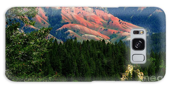 Blushing Hills Galaxy Case by Janice Westerberg