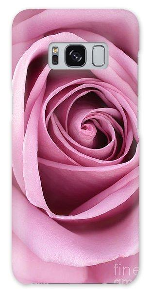 Blushing Pink Rose Galaxy Case