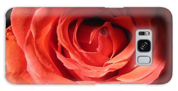 Blushing Orange Rose 3 Galaxy Case