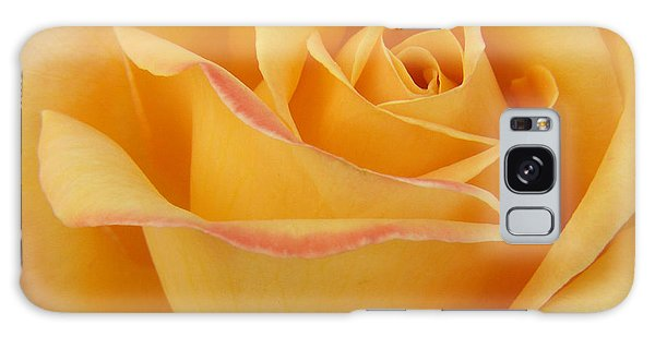 Blushing Yellow Rose Galaxy Case
