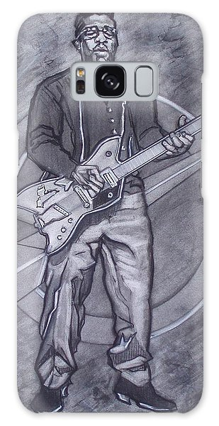 Bo Diddley - Have Guitar Will Travel Galaxy Case by Sean Connolly