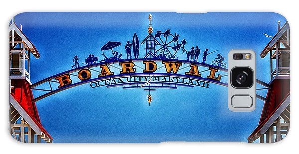 Boardwalk Arch In Ocean City Galaxy Case by Bill Swartwout