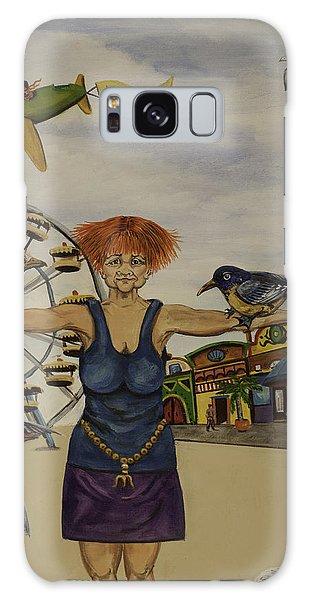 Boardwalk Birdwoman Galaxy Case