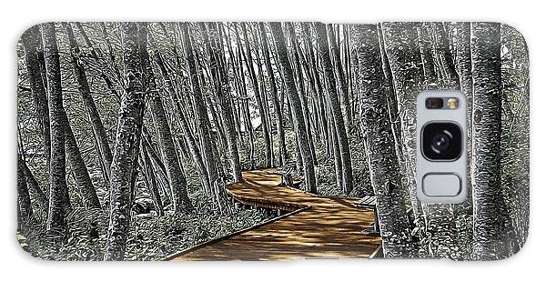 Boardwalk In The Woods Galaxy Case