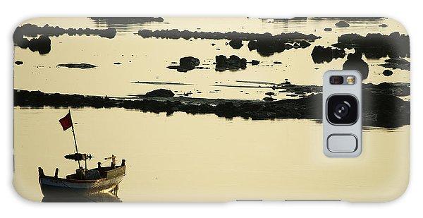 Boat Amongst The Rocks Galaxy Case by Rajiv Chopra