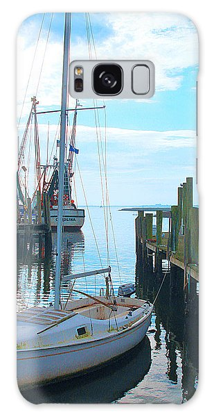 Boat At Dock By Jan Marvin Galaxy Case