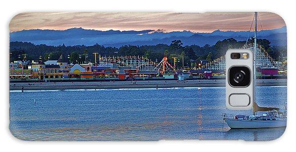 Boat At Dusk Santa Cruz Boardwalk Galaxy Case