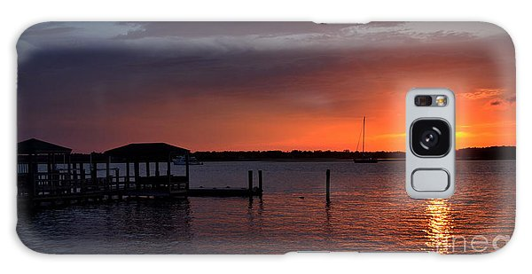 Boat House Sunset  Galaxy Case