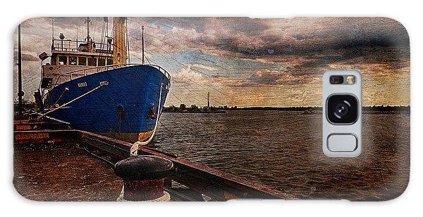 Boat In Marina Galaxy Case