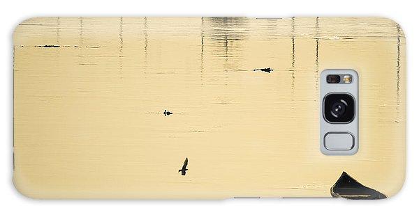Boat In The Water Galaxy Case by Rajiv Chopra