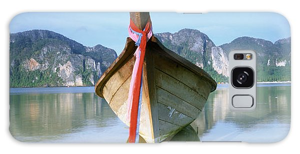 Phi Phi Island Galaxy Case - Boat Moored In The Water, Phi Phi by Panoramic Images